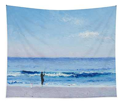 The Surf Fisherman Tapestry