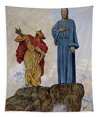 The Temptation Of Christ Tapestry