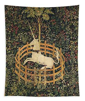 The Unicorn In Captivity Tapestry