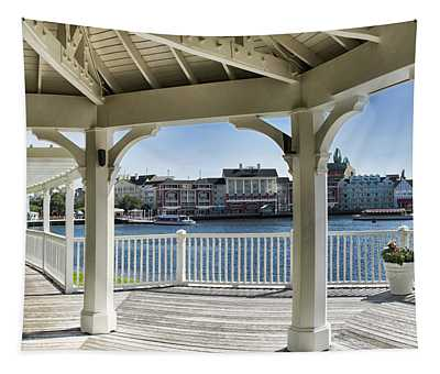 The View From The Boardwalk Gazebo At Disney World Tapestry