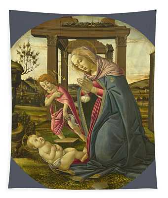 The Virgin And Child With Saint John The Baptist Tapestry
