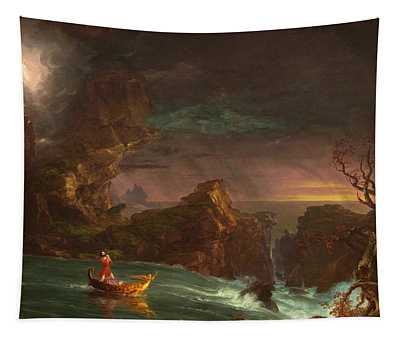 The Voyage Of Life Manhood Tapestry