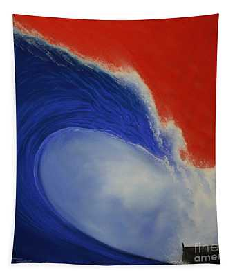 The Wave II Tapestry