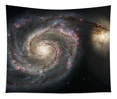 The Whirlpool Galaxy M51 And Companion Tapestry