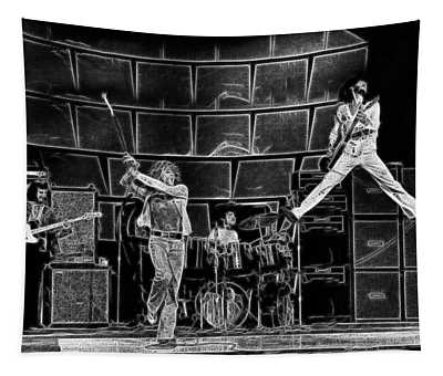 The Who - A Pencil Study - Designed By Doc Braham Tapestry