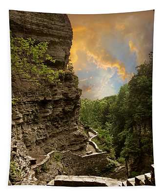 Tapestry featuring the photograph The Winding Trail by Jessica Jenney