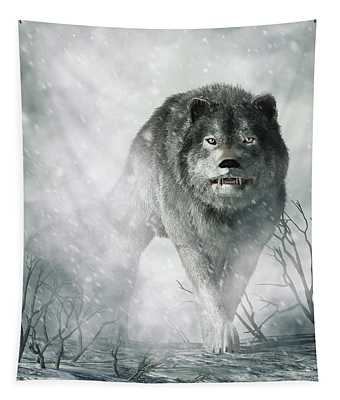 The Wolf Of Winter Tapestry