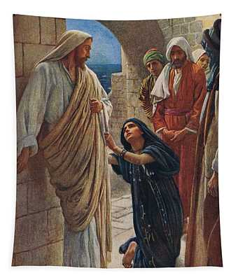 The Woman Of Canaan Tapestry