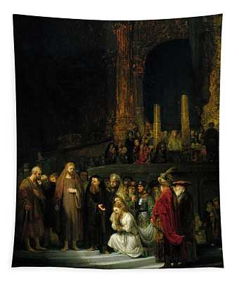 The Woman Taken In Adultery Tapestry