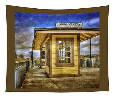 The Oregon City Train Depot Tapestry