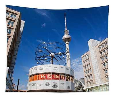 The Worldtime Clock Alexanderplatz Berlin Germany Tapestry