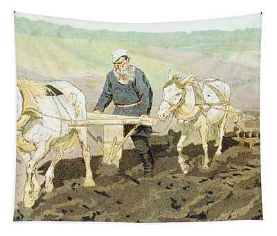 The Writer Lev Nikolaevich Tolstoy Tapestry