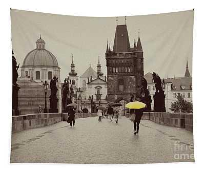 The Yellow Umbrella Tapestry