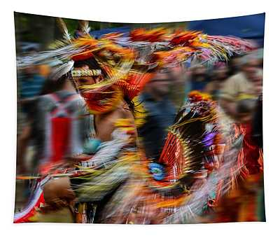 Their Spirit Is Among Us - Nanticoke Powwow Delaware Tapestry