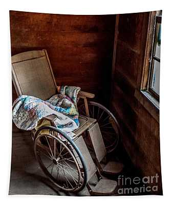 Wheelchair With A View Tapestry
