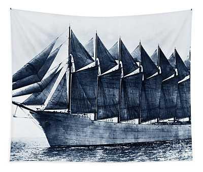Thomas W. Lawson Seven-masted Schooner 1902 Tapestry