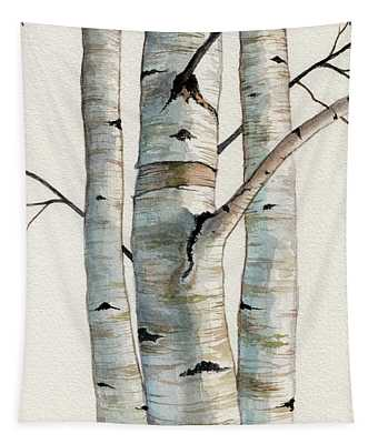 Three Birch Trees Tapestry