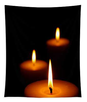 Three Burning Candles Tapestry