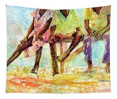 Three Children Of Ghana Tapestry