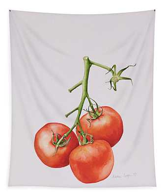 Three Tomatoes On The Vine Tapestry
