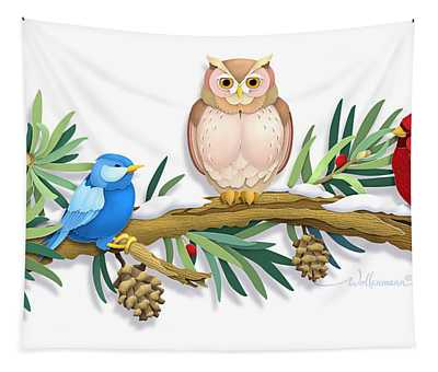 Three Watchful Friends Tapestry