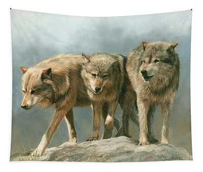 Three Wolves Tapestry