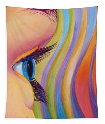 Tapestry featuring the painting Through The Eyes Of A Child by Sandi Whetzel