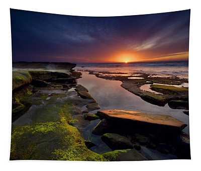 Tidepool Sunsets Tapestry
