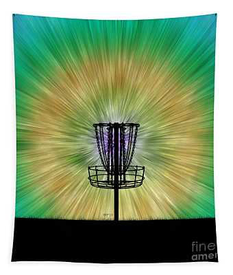 Tie Dye Disc Golf Basket Tapestry