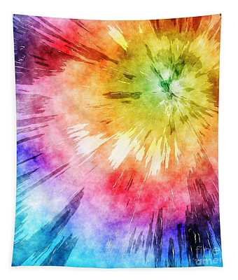 Tie Dye Watercolor Tapestry