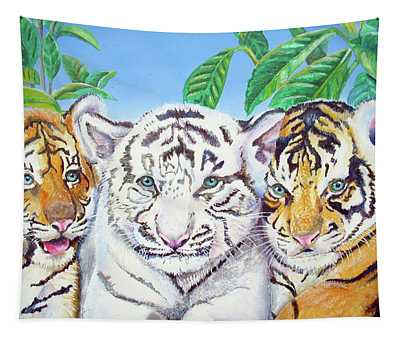Tiger Cubs Tapestry
