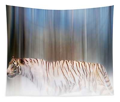 Tiger In The Mist Tapestry