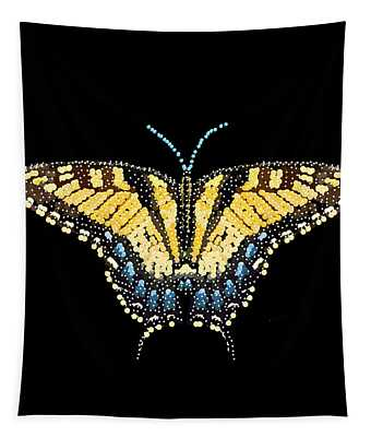 Tiger Swallowtail Butterfly Bedazzled Tapestry