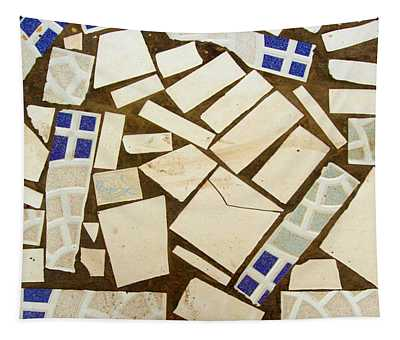 Tile Pieces In Brown Grout Tapestry