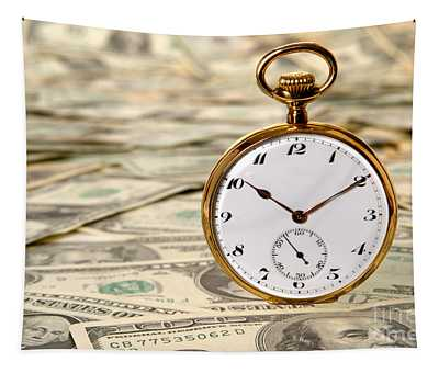 Time Is Over Money Tapestry