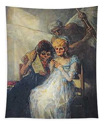 Time Of The Old Women, 1820 Oil On Canvas Tapestry