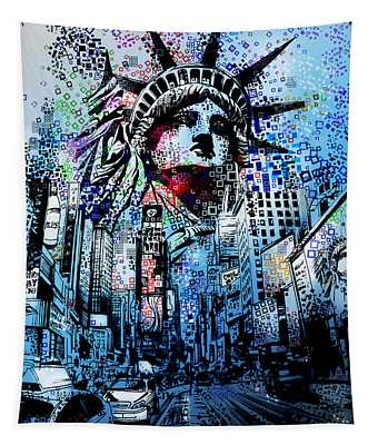 Times Square 2 Tapestry