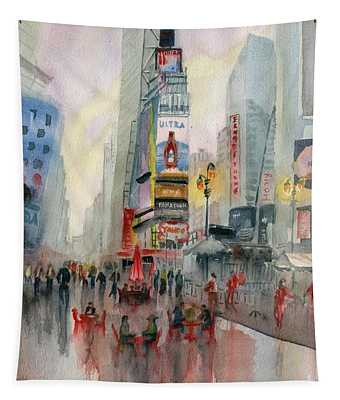 Time Square New York Tapestry