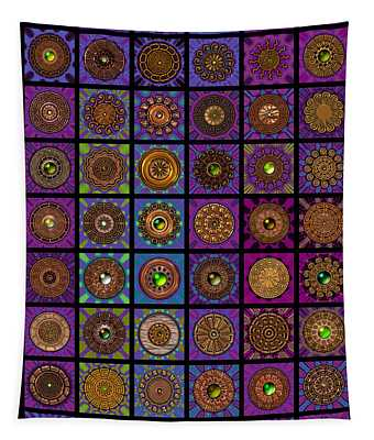 Timepieces One Dingbat Quilt Tapestry