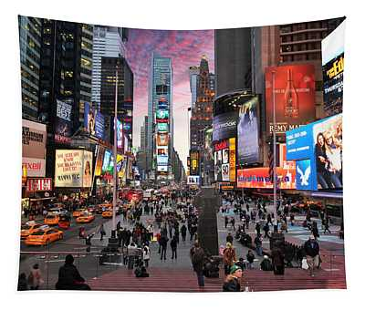 Times Square New York City Tapestry