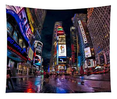 Times Square New York City The City That Never Sleeps Tapestry