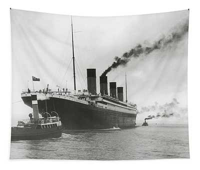 Titanic Ready For Her Maiden Voyage Tapestry