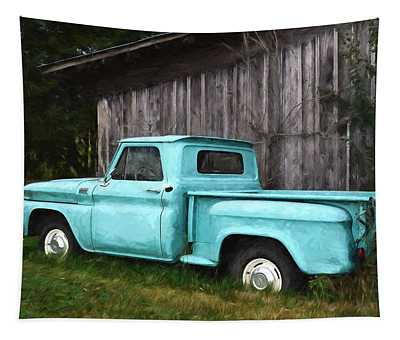 To Be Country - Vintage Vehicle Art Tapestry