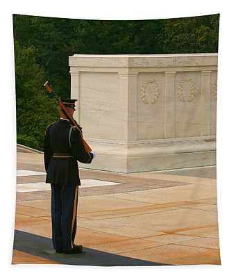 Tapestry featuring the photograph Tomb Of The Unknown Soldier by Kim Hojnacki