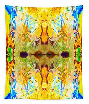 Tony's Tower Abstract Pattern Artwork By Tony Witkowski Tapestry