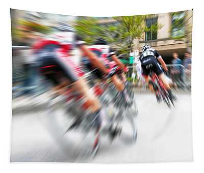 Toronto Criterium Bicycle Race Special Fx - Lucky Number 13 Tapestry