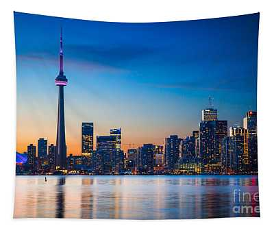 Toronto From Centre Island Tapestry