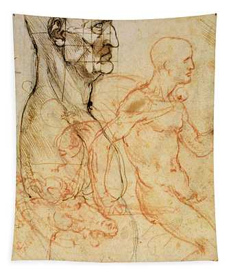 Torso Of A Man In Profile Tapestry