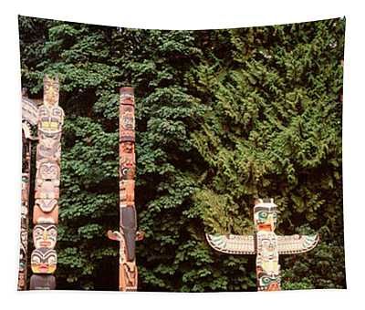Totem Poles In A Park, Stanley Park Tapestry