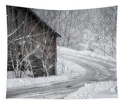 Touched By Snow Tapestry